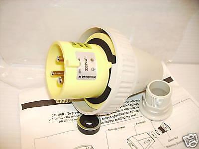 New Woodhead 330p4w 30-amp Water Tight Pinsleeve Plug Hbl330p4w 30a 2p 3w