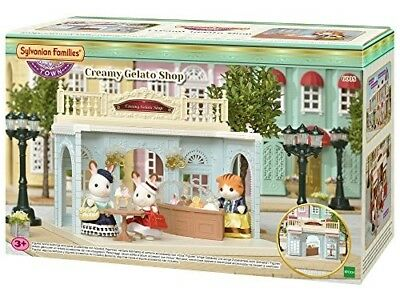 Sylvanian Families 6008 Creamy Gelato Shop Playset, New Town Series