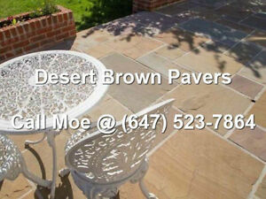 Autumn Brown Flagstone Pavers Brown Square Cut Paving Stones