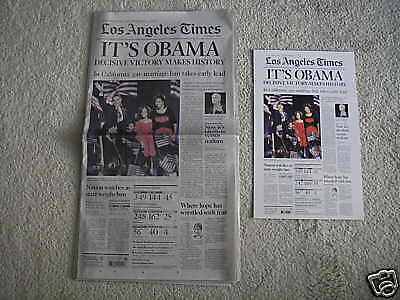 Poster Of Los Angeles Times Front Page Barack Obama   1