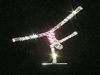 Rhinestone Gymnastics Handstand Lapel Pin SPARKLING