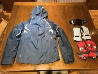Quechua women's ski jacket with zip out lining + 2 FREE pairs of gloves