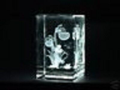 FORGET-ME-NOT FLOWER FAIRY LASER CRYSTAL PAPERWEIGHT