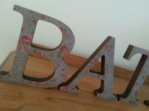 Bath Wooden Letters Home Decor Ebay
