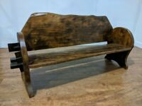 Bespoke Rustic Farmhouse Solid Elm Heavy Duty Garden Bench Seat