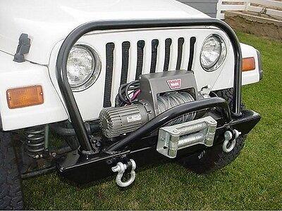 Rock Hard 4x4 Bolt On Hood Hoop for Front Bumper 76-06 Jeep CJ Wrangler YJ TJ LJ - Mount 76 Series