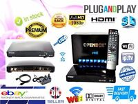 Openbox v8's with 12 Month Gift and Android TV Box (MXQ) Combi