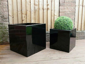 Medium-Square-Indoor-Outdoor-Planter-Fibreglass-Home-Garden-Office-Plant-Pot-Box