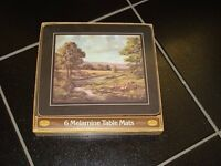 6 Brand New Melamine Table Mats