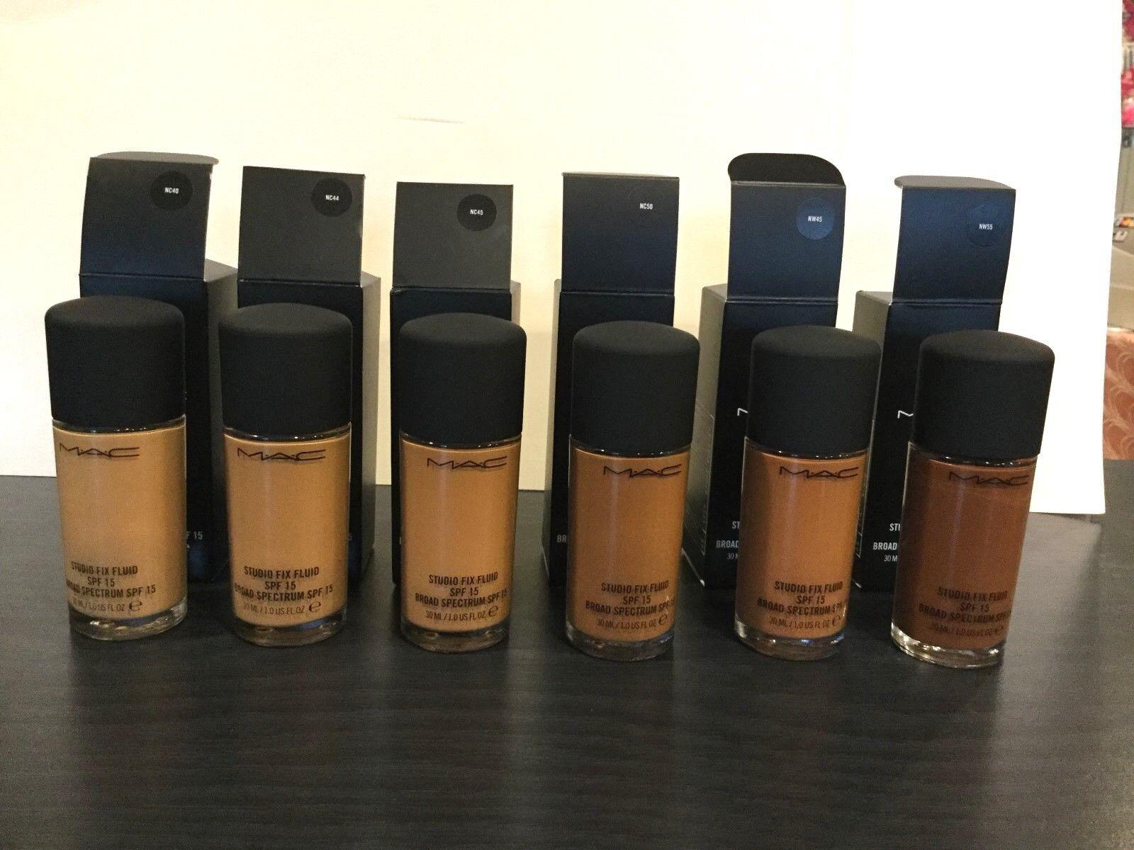 New Mac Studio Fix Fluid Foundation SPF15 Choose Shade 100%