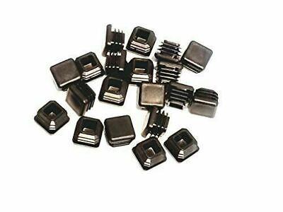 20pcs 34 14-20 Ga Square Plastic Tubing Plugspost End Caps For Tubular Rack