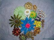 Vintage Flower Pin Brooch Lot