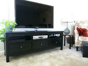 Ikea Hemnes TV Bench Black/Brown