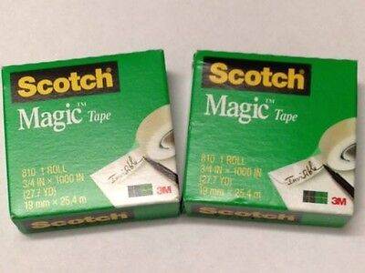 2 Rolls Scotch Magic Tape 3m 810 34 Inch X 1000 Inch Refill Free Ship