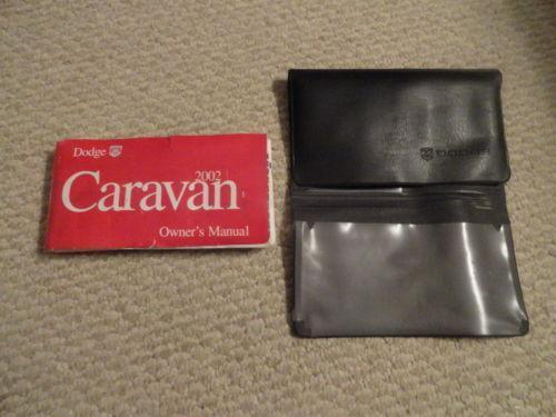 2002 Dodge Caravan Owners Manual