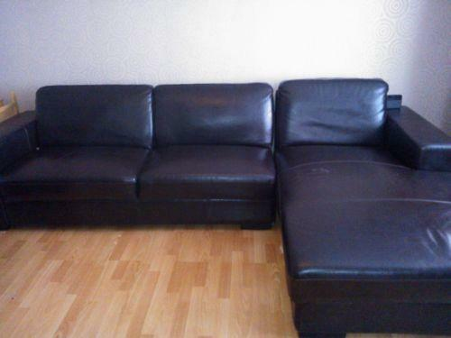 faux leather corner sofa ebay. Black Bedroom Furniture Sets. Home Design Ideas