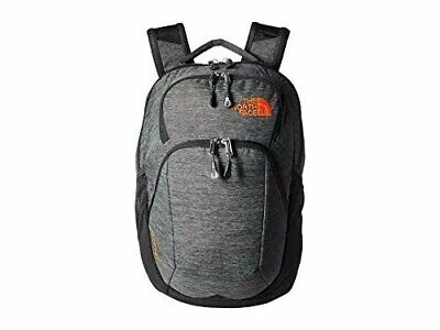 The North Face Pivoter Backpack, TNF Dark Grey Heather/Persian Orange