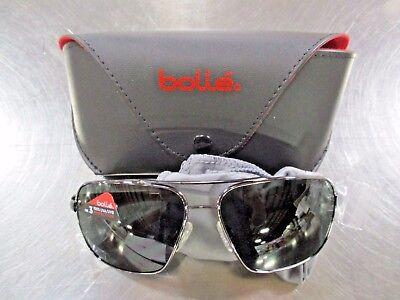 BOLLE 11800 Brisbane 100% UVA & UVB Shiney Metal Wire Frame (100 Uva Uvb Sunglasses)
