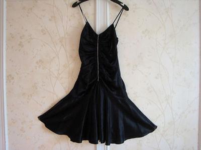 NWT BETSEY JOHNSON WOMENS BLACK SILK DRESS 2