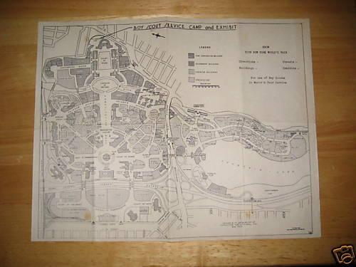 1939 New York World Fair Service Camp & Exhibit map  wf