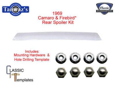 1969 69 Camaro Firebird Trunk Deck Lid Rear Spoiler w/ Template & Hardware CHQ