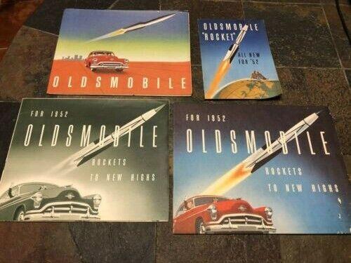 """VTG: Lot of 4 OLDSMOBILE """"Rocket"""" 1951 & 52 dealer brochures collectibles"""