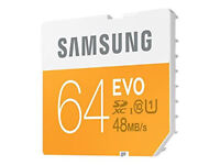 Samsung 64GB EVO SD Card (SDXC) 48MB/s for DSLRs & Full HD camcorders