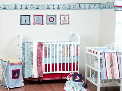 plaids stripes boys 4 piece crib set