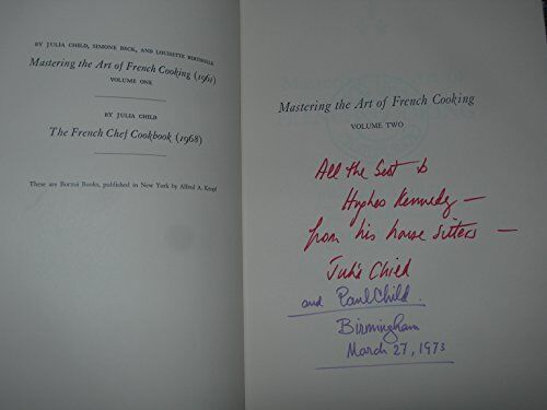 *AUTOGRAPHED by 2 Signed BOOK Mastering the Art of French Cooking Vol 2 FIRST Ed
