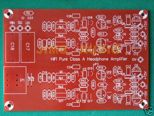 FET input diamond buffer output preamp PCB Borbely !