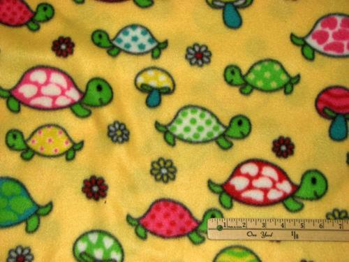 Turtle Fleece Fabric Ebay
