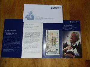 Jack Nicklaus £5 (Five Pounds) Note in MINT Condition with Commemorative Folder
