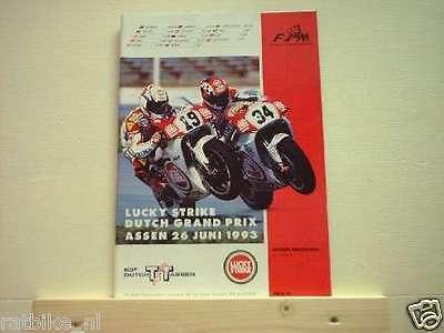 1993 DUTCH TT ASSEN PROGRAMME. GRAND PRIX MOTO GP LUCKY STRIKE  26-6-1993