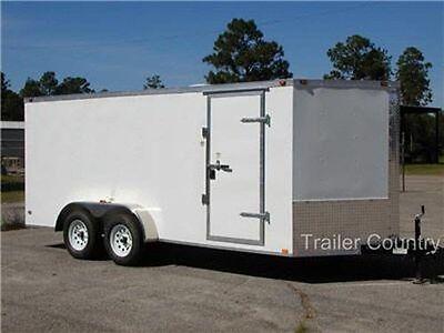 New 7x14 7 X 14 V-nose Enclosed Cargo Trailer W Ramp