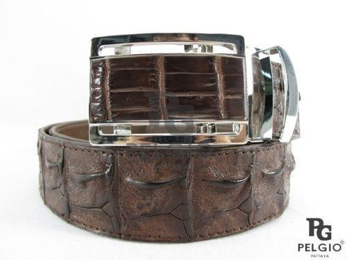 Mens Crocodile Skin Belt Ebay