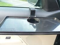 CAR DOOR MOUNTED CUP HOLDERS + TRAYS (2 of each)