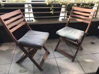 (2) Folding garden / patio chairs (Ikea)