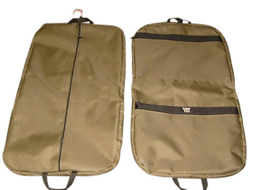 "Garment bag 36"" travel suit bag in five great colors Made in USA."