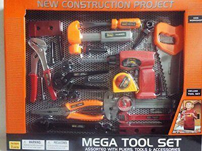 26PC Kids Workshop Mega Deluxe Tool Set- Construction Project Playset Pretend