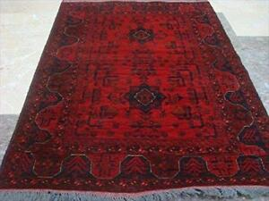 Exclusive Khal Muhamadi Fine Afghan Area Rug Hand Knotted Wool Carpet (4.10 x 3.5)'