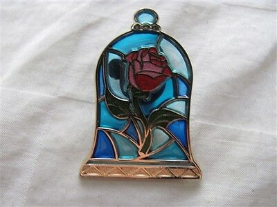 Disney Trading Pins 114236 Beauty and The Beast Stained Glass Rose