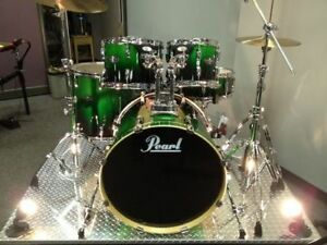 Pearl Custom Master ELX Drum Kit Symbols and stands