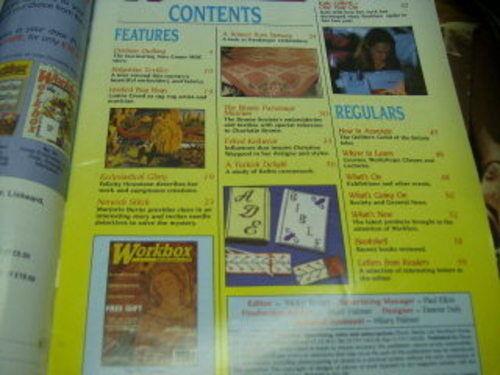 Workbox UK Craft Magazine J/J 1998 Bulgarian Textiles, Durham Quilting Hardanger