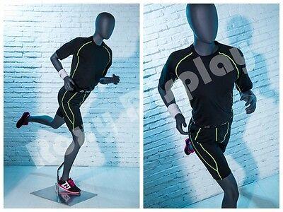 Female Fiberglass Egghead Athletic Style Mannequin Dress Form Display Mz-hef64eg