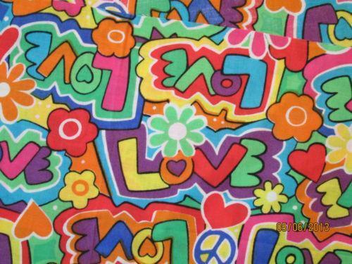 Peace Sign Material Fabric Ebay
