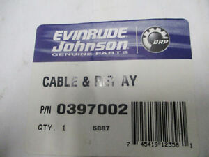 Johnson Evinrude Outboard Cable & Retainer Assy 397002