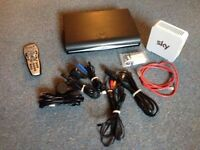 Sky HD box bundle, remote control, router & all accessories/wires etc