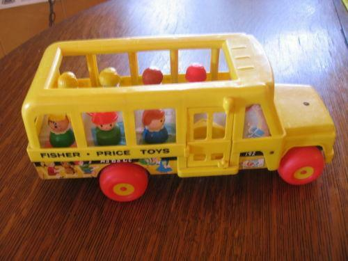 fisher price school bus ebay. Black Bedroom Furniture Sets. Home Design Ideas