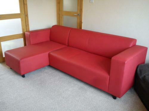 red corner sofa ebay. Black Bedroom Furniture Sets. Home Design Ideas