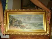 Antique Oil Painting Ocean